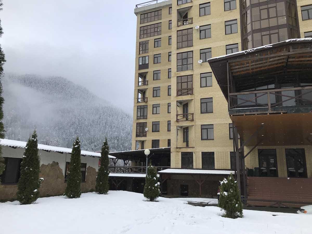 В Домбае выпал снег! Дождались!